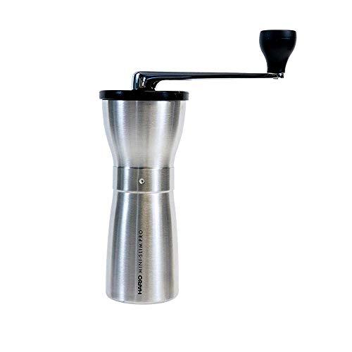 Hario MMSP-1-HSV Mini Mill Slim Pro koffiemolen, keramiek, zilver, zilver