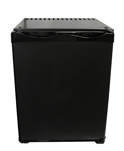 ATENARU 25リットル無音・無振動小型冷蔵庫 アンモニア吸収式 クラシックブラック 左開き