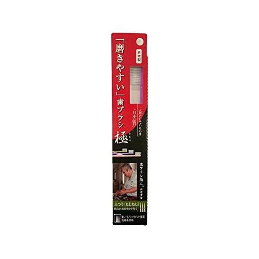 独立して練習非武装化ライフレンジ 磨きやすい歯ブラシ極 1P*12本入り LT-28ふつう(ねじねじ)