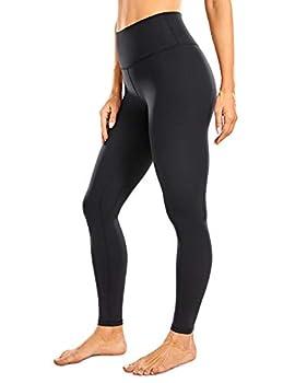 CRZ YOGA Women s High Waisted Full-Length Yoga Leggings Workout Tights Yoga Pants - Naked Feeling Soft - 28 Inches Black Medium