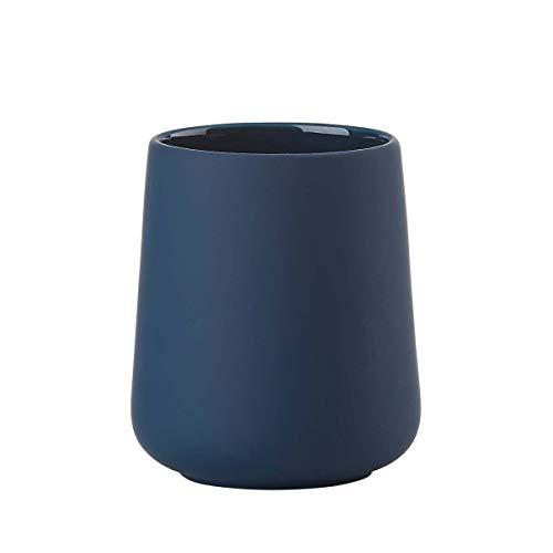 ZONE Denmark 362048 NOVA ONE Porte-brosse à dents avec Soft-Touch, porcelaine, H 10 cm - Royal Blue, bleu marine