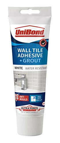 UniBond Ultra Force Wall Tile Adhesive and Grout in Easy Apply Tube, 2 in 1...