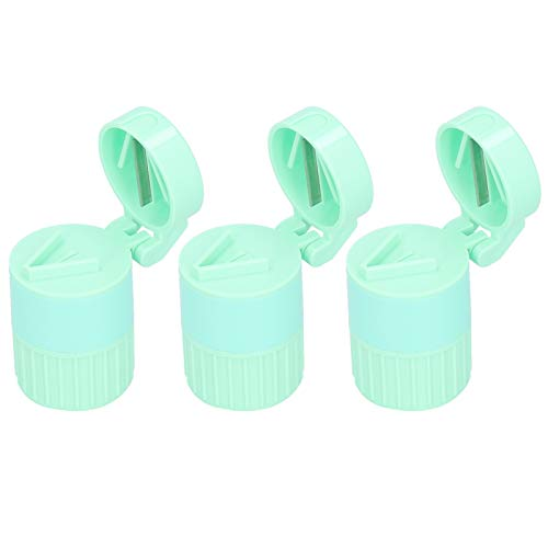 Accessory Pills Crusher Tablet Splitter Storage Box for Accurate Dosage for Tablet for Vitamin for Travel (Green)
