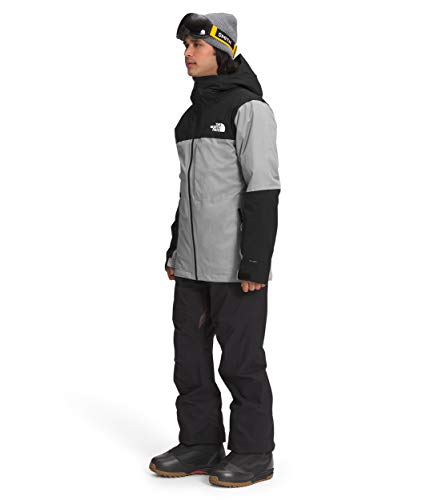 The North Face Men's ThermoBall Eco Snow Triclimate, TNF Medium Grey Heather/TNF Black, M