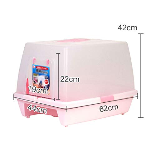 2020 Self Cleaning Litter Boxes for Cats, Cat Toilet Best Self Cleaning Litter Box Anti-Splashing Cat Cat Large Cat Litter Cat Supplies for Small Cats (Color : Pink)
