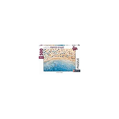 Nathan 4005556871384 - Puzle (500 Piezas), diseño de un Verano en la Playa