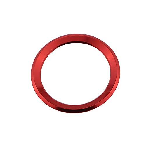 ihreesy Auto Lenkradring,Aluminiumlegierung Auto Lenkrad Center Ring Auto Lenkrad Logo Dekorativer Ring Lenkrad Ring Kompatibel mit X1 X3 X5 X6 E36 E39 E46 E30 E60 E90 E92 F30 F35,Rot