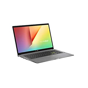 """ASUS VivoBook S15 S533 Thin and Light Laptop, 15.6"""" FHD Display, Intel Core i5-1135G7 Processor, 8GB DDR4 RAM, 512GB PCIe SSD, Wi-Fi 6, Windows 10 Home, Indie Black, S533EA-DH51"""