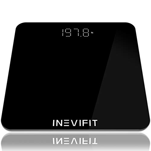 INEVIFIT Bathroom Scale, Highly Accurate Digital Bathroom Body Scale, Measures Weight for Multiple Users.