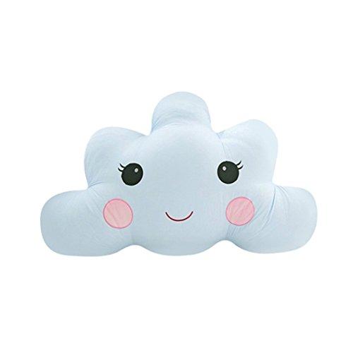 Verlike Coussin Oreiller en peluche Peluche mignon jouet en forme de nuage Parure de lit Home Decora Cadeau, N°4, 60 cm
