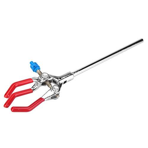 Abrazadera, instrumento de laboratorio de Wilecolly, abrazadera química de tres mordazas, soporte de retorta de aleación de zinc, soporte de condensador, accesorios de laboratorio(L)