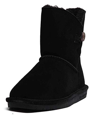 Bearpaw Rosie Jugend Stiefeletten aus Schafsleder, Kastanienbraun, Schwarz - Schwarz - Größe: 32,5