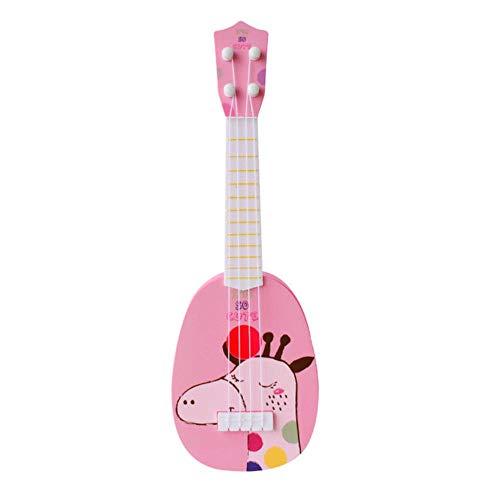 LEIXNDPLBO 39/44 cm Kids Mini Ukulele 4 String Stijl Kids Gitaar Muziekinstrumenten Speelgoed Voor Kinderen Muziek Beginner X'mas Gift, 36 cm Giraffe