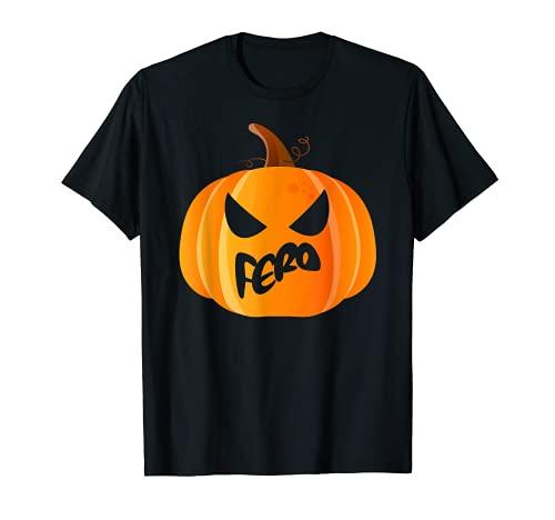 Fero Nombre Calabaza Personalizada Halloween Camiseta