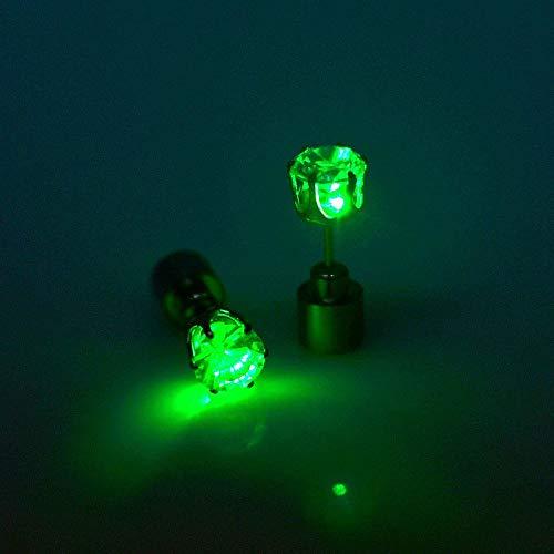 JALAL 1 Paar Dance Party Zubehör Leuchten Sie LED Bling Ohrstecker Bunte LED Licht Ohrring Perfekt für Nachtclubs Dance Halls