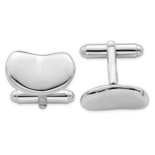 Black Bow Jewellery Company : poli Concave Boutons de manchette Homme-Argent 925/1000