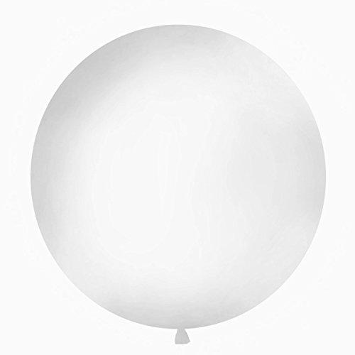 Simplydeko XXL Ballon 100cm | Riesenballon-Deko für Party, Garten und Hochzeit | Luftballons (Weiß)