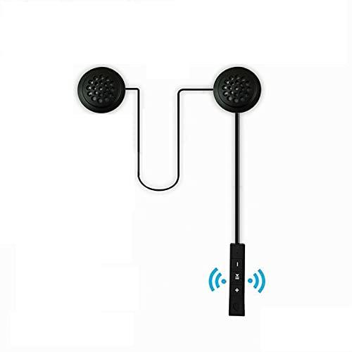 Motorrad Helm Headset Bluetooth 4.1+EDR Helm Kopfhörer Wireless Winddicht für Motorräder Music Call Control/Cycling/Skiing ual-Stereo Lautsprecher Freihändige mit Mic Kopfhörer für Smart Phones