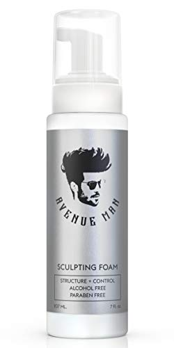Sculpting Foam for Men (7oz) - Extra Hold Volumizing Hair Mousse with Certified Organic Extracts - by Avenue Man Styling Hair Products - Alcohol and Paraben-Free Hair Volumizer - Made in the USA