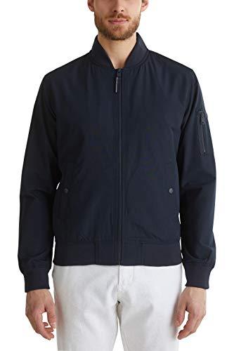 ESPRIT Herren 030EE2G301 Jacke, Blau (Dark Blue 405), Large (Herstellergröße: L)