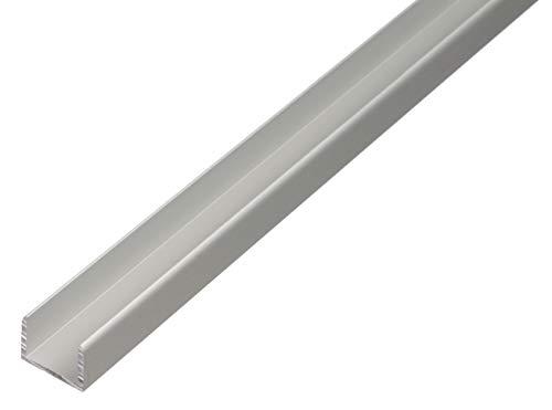 GAH-Alberts 30623 U-Profil | selbstklemmend | Aluminium, silberfarbig eloxiert | 1000 x 15,9 x 15 mm