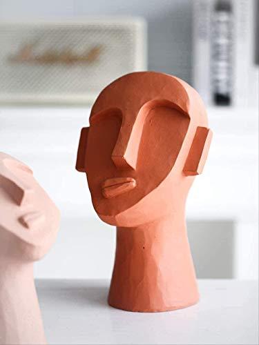 Adornos De Escritorio Estatuas Esculturas Figuras Para La Decoración Del Hogar Adornos Para La Sala De Estar Decoración Del Hogar Adorno De Jardín Escultura De Decoración Facial Moderna Y Creativa Sal