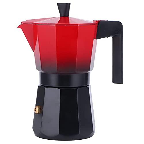 Stovetop Moka Pot Coffee Maker, hervidor de café de mano doméstico de alta presión de doble válvula para cocina, oficina en c
