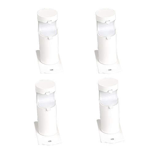 Mdurian 4 Stück Drehbar Vorhangstange Wandhalter Metall Deckenhalterung Drapierung Gardinenstangenhalter Auflageträger 28mm für Gardinenstange Kleiderstange Kleiderschrank