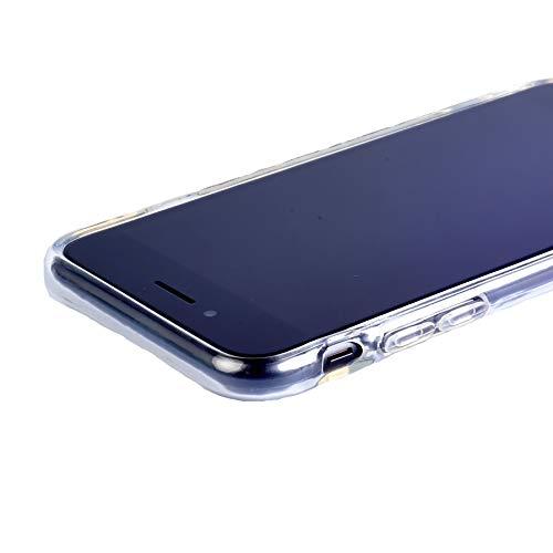 GANAN Hülle Kompatibel mit iPhone 7, iPhone 8 & SE 2020 Transparent TPU Flexibel Handyhülle Durchsichtige Schutzhülle Hülle Anti-Schock