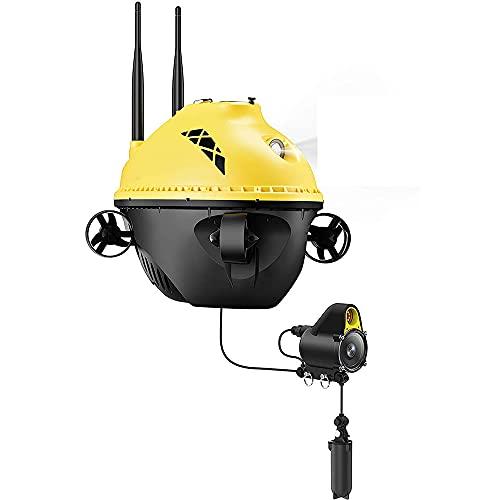 LZHYA Drone Subacuático, con Cámara 1080P Full HD, Escena Infrarroja Nocturna, RC Mini UAV Underone, HD Transmisión De Imagen Cámara Submarina Drone Fotografía Y Vídeo Subacuático