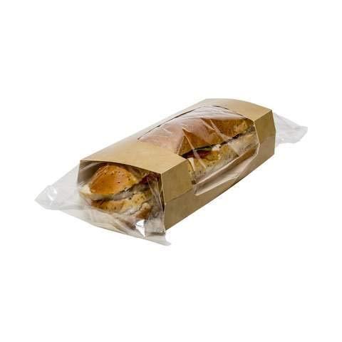 Baguette-Hülle, Kraftpapier und Baguette-Verpackung, natürliche organische und recycelbare Materialien, perfekt zum Servieren von Fast-Food, wie Hot Dogs, kleine Snack-Back-Hülle, 50