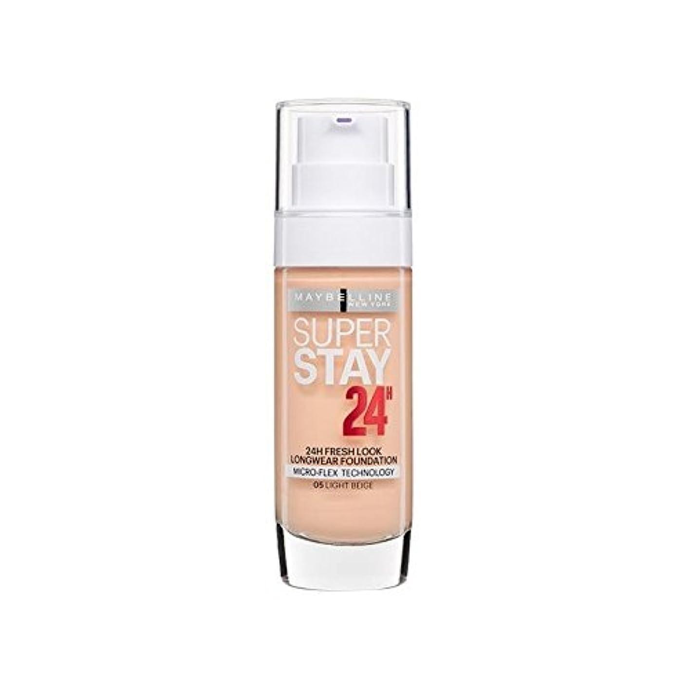 自動フォロー歴史メイベリンの24時間リキッドファンデーションライトベージュ30ミリリットル x4 - Maybelline SuperStay 24h Liquid Foundation Light Beige 30ml (Pack of 4) [並行輸入品]