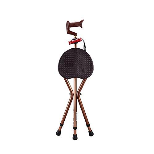 Triangel Pall Äldre Kryckor 1,5 Mm Aluminium Grepp Folding Blå Brun Tvåfärgs Hög 85 Cm Öka Panelen 21,5 Cm × 24,5 cm med Massage Poäng 1 kg belastning 200 kg (Color : Brown)