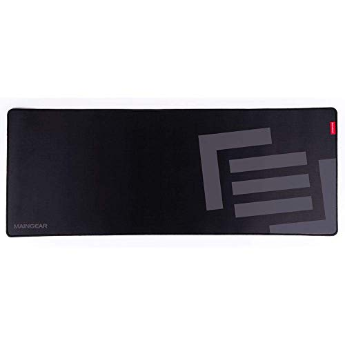 MAINGEAR Assist XL Gaming Mouse Pad, Water-Resistant Cloth Computer Keyboard Mouse Mat Extended Desk Pad for Games Office Esports, 35.43 x 13.78 x 0.12 Inch, Stealth (Black + Grey)