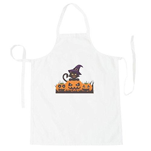 INNOGLEN Katze Halloween Smile Schürze r541b