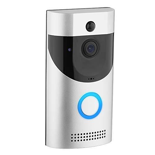 Video Türklingel mit Kamera, WLAN Türklingel Video Doorbell Türsprechanlage, PIR Bewegungsmelder, Nachtsicht Türklingel Intercom System mit APP Fernbedienung, für iOS Android