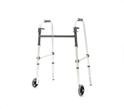 Invacare - 1128516 I-Class Adult Paddle Walker, 5' Fixed Wheels, 6291-5F (Sold as Individual Units), Silver