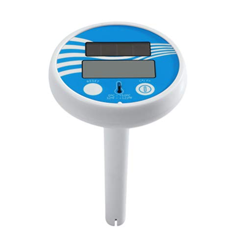BESPORTBLE Solar Schwimmbad Teich Thermometer Wireless Digital Floating Thermometer Spa Center Wassertemperatur-Thermometer Schwimmtrainingszubehör