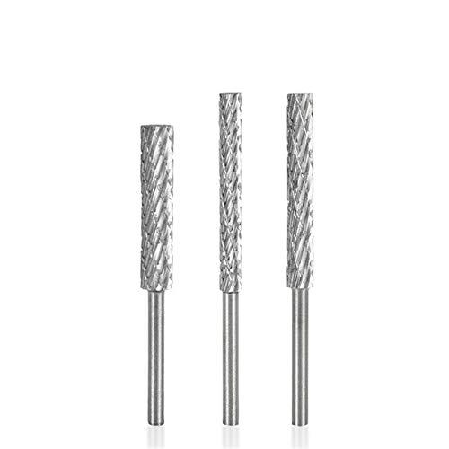 Shenyitool High Speed Steel Rotary Datei 3mm 4mm 5mm 6mm Double Cut Rotary Burr Bohrer 3mm Schaft Schleifkopf Engraving Cutter Werkzeug (Color : 3mm)