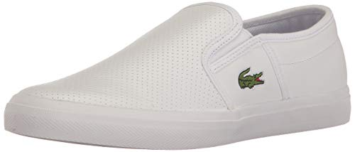 Lacoste Mens Gazon Bl 1 Fashion Sneaker, White, 8.5 M US