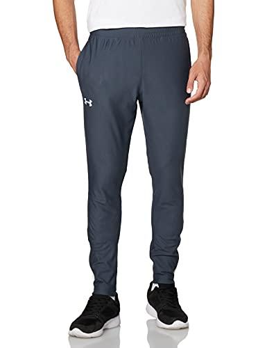 Under Armour Sportstyle PIQUE SPACK-byxor, lätta och snabbtorkande träningsunderdelar, bekväma joggingbyxor för män för träning och sport män Grå Grå S