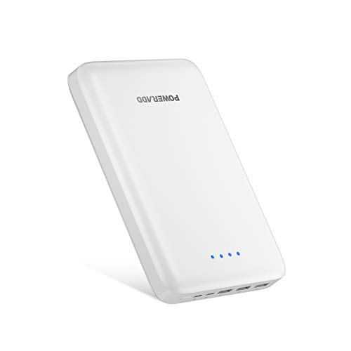 POWERADD Pilot Pro3 30000mAh Portable Charger Ultra High Capacity Power Bank, Fast-Charging External Battery with Dual Inputs and 3 Outputs, Compatible with iPhone, Samsung, LG and More (White)