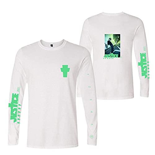 Rileyxxshop Justin Bieber Camiseta Larga Ropa Musical Ropa Deportiva Top Colorido Hombres y Mujeres Juventud Justin Imprimir Casual Manga Larga