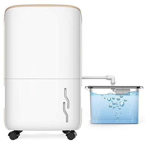Qualrty Calidad Deshumidificador pequeño Deshumidificador doméstico portátil (4 + 10L Tanque de Agua, Mini Pantalla Digital for el hogar Absorbedor de Humedad Seca Armario, Cuarto de baño Dormitorio