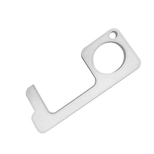 1 Pak Contactloze Deuropener Mini Draagbare Handheld Sleutelhanger Gereedschap Deurdranger Druk Lift Knop Artefact Vermijd Aanraking Sleutel Gesp Tool Deuropening Artefact