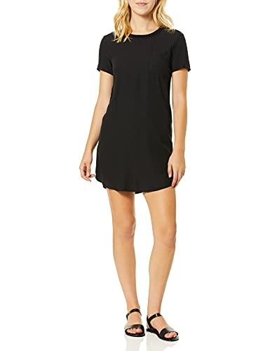Splendid Women's Short Sleeve T-Shirt Dress, Black, S