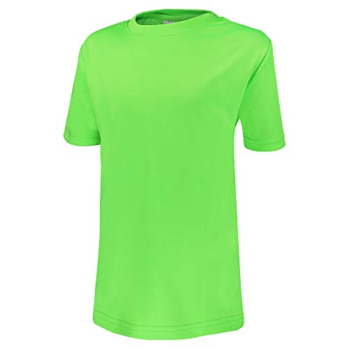 Alps to Ocean Sports Kinder Sportshirt Funktions T-Shirt Teamsport (schnelltrocknend, atmungsaktiv), Größe:140, Farbe:Neon Green