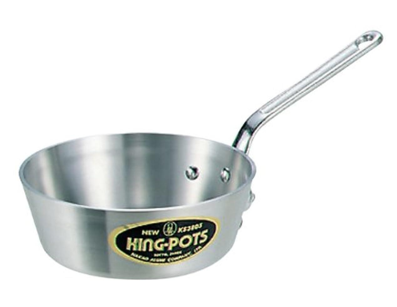 はっきりと物質虚栄心アルミ ニューキング テーパー鍋(目盛付)21cm