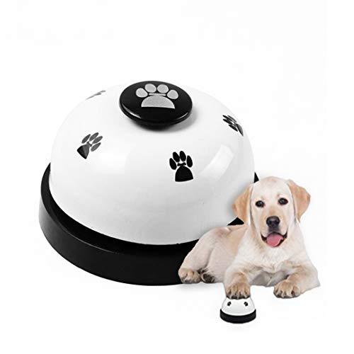 FayTun Campanas de Entrenamiento para Mascotas, Timbre de Puerta para Perros y Gatos, Campanas de Entrenamiento, Campana de interacción para Perros (Blanco)