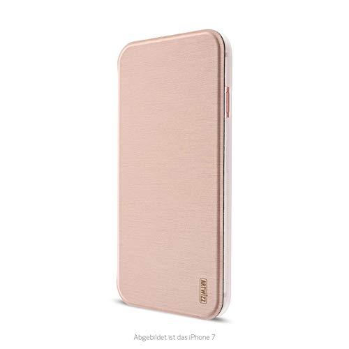 Artwizz SmartJacket Handyhülle geeignet für [iPhone SE (2020) / 8 / 7] - Schutzhülle in gebürsteter Metall-Optik - Roségold